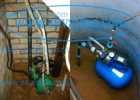 Расположение абиссинской скважины в подвале и в приямке