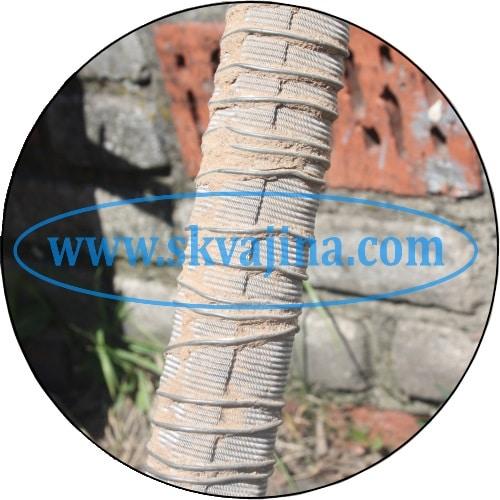 Намотанный фильтр на абиссинский колодец выдержал забивание